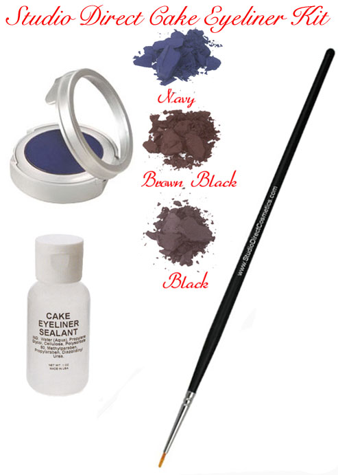 Studio Direct Cosmetics Cake Eye Liner Kit Colors Selection Chart