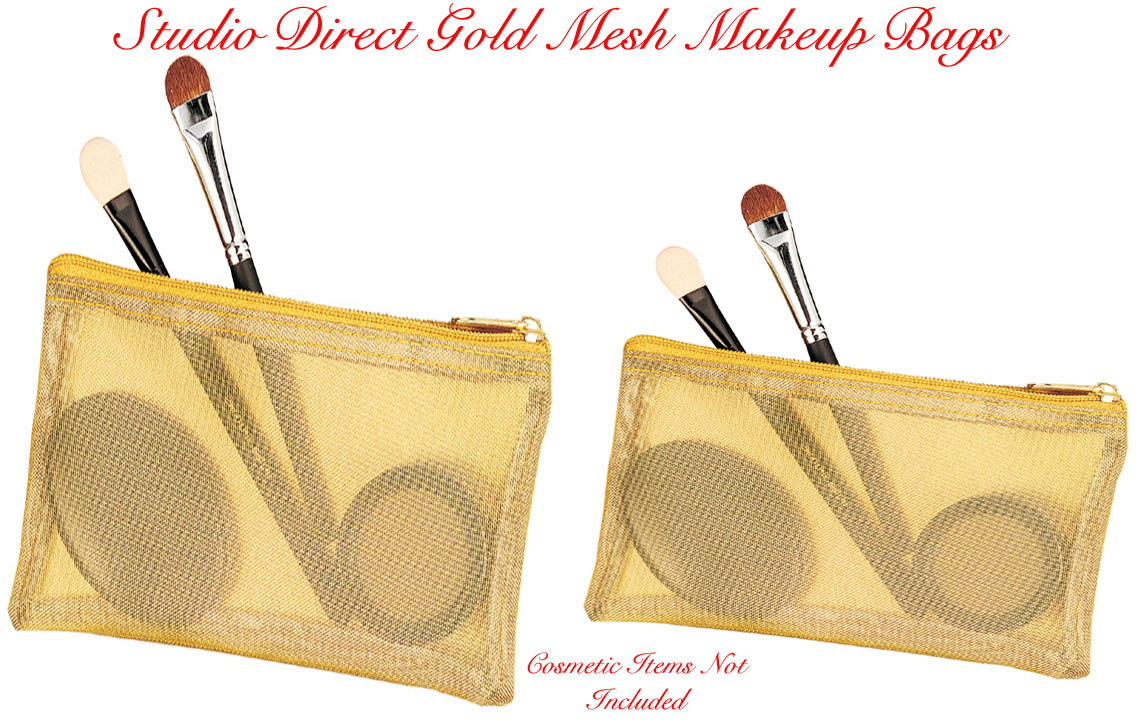 cebb9566aba8 Click to Enlarge Studio Direct Gold Mesh Cosmetic Bag