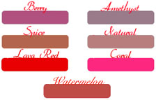 Click to Enlarge Lip Ink Lip Liners Color Selection Chart