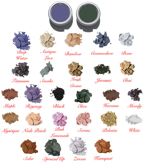 Click To Enlarge Studio Direct Large Matte Eye Shadows Color Selection Chart