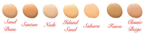 Click to Enlarge Studio Direct Oil Free Foundation w Aloe Vera Color Selection Chart