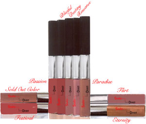 Studio Direct Long Lasting Lip Color & Gloss Color Selection Chart