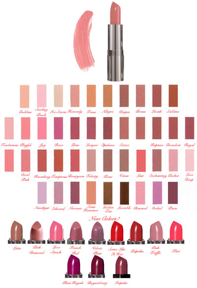 Please Click to Enlarge Studio Direct Luxury Lip Plumping Lipstick Color Selection Chart