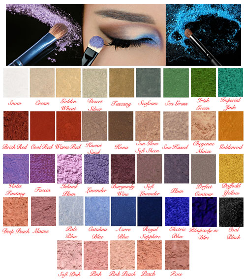 Studio Direct Loose Mineral Makeup Matte Eyeshadows & Eye Liners