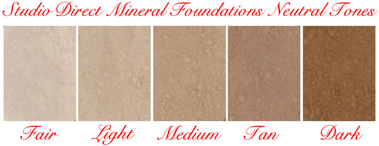 Studio Direct Mineral Foundations Neutral Tones