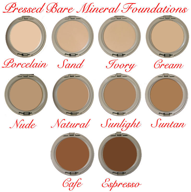 Bare Mineral Pressed Foundation Cosmetic Makeup