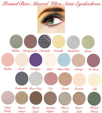 Bare Mineral Ultra Satin Pressed Eyeshadows